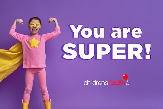 Superhero with Message: You are SUPER!